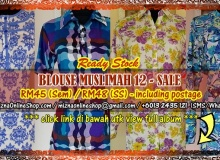 [READY STOCK] BLOUSE MUSLIMAH 12 | RM45