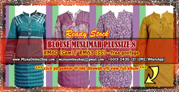 [READY TSOCK] BLOUSE MUSLIMAH PLUS SIZE 8