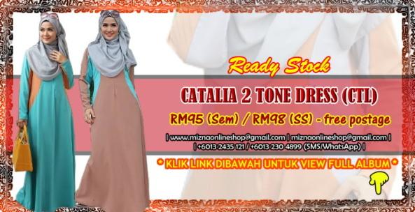 [READY STOCK] CATALIA 2 TONE DRESS (CTL)