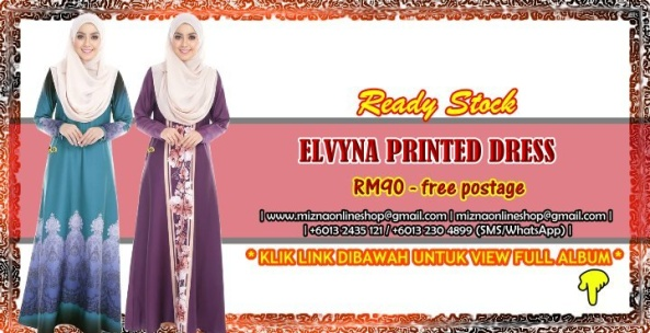 [READY STOCK] ELVYNA PRINTED DRESS