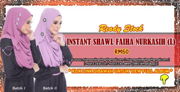 [RS-1] INSTANT SHAWL FAIHA NURKASIH (L)