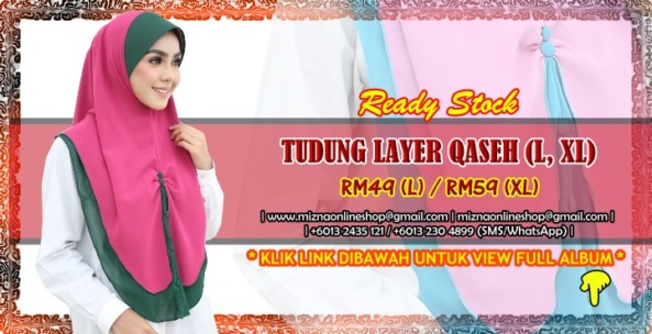 [RS-1] TUDUNG LAYER QASEH (L, XL)