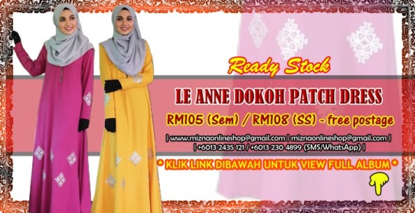 [READY STOCK] LE ANNE DOKOH PATCH DRESS