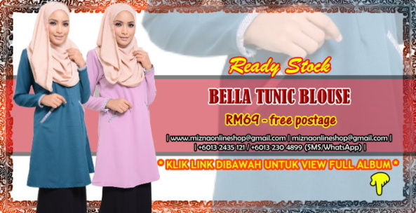 [READY STOCK] BELLE TUNIC BLOUSE