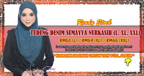 [FLASH SALE] TUDUNG DENIM SUMAYYA NURKASIH (L, XL, XXL)