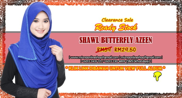 [CLEARANCE] SHAWL BUTTERFLY AZEEN