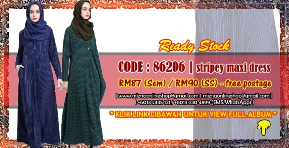 [READY STOCK] 86206 – STRIPEY MAXI DRESS