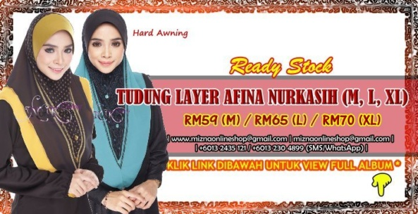 [RS-1] TUDUNG LAYER AFINA NURKASIH (M, L, XL)