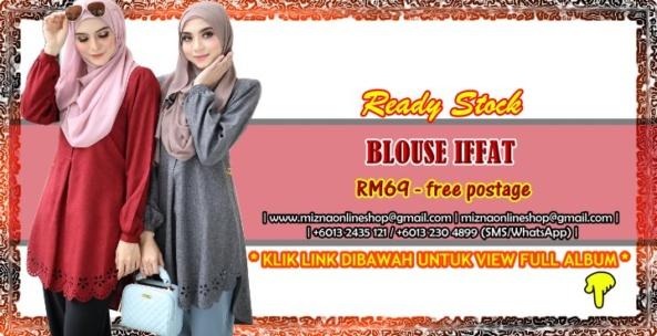 [READY STOCK] BLOUSE IFFAT