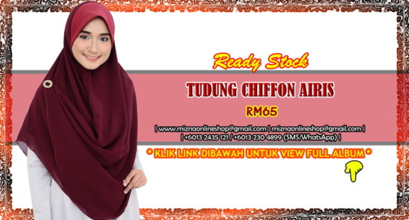 [RS-2] TUDUNG CHIFFON AIRIS (Batch 6)