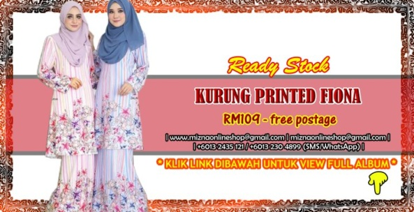 [READY STOCK] KURUNG PRINTED FIONA