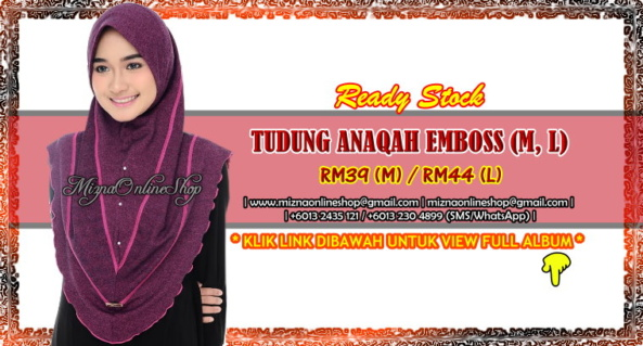 [SPECIAL OFFER] TUDUNG ANAQAH EMBOSS (M, L)