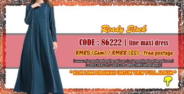 [READY STOCK] 86222 – LINE MAXI DRESS