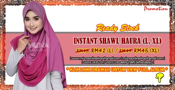 [RS-2] INSTANT SHAWL HAURA (L, XL)