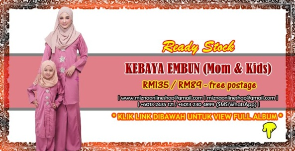 [READY STOCK] KEBAYA EMBUN (Mom & Kids)
