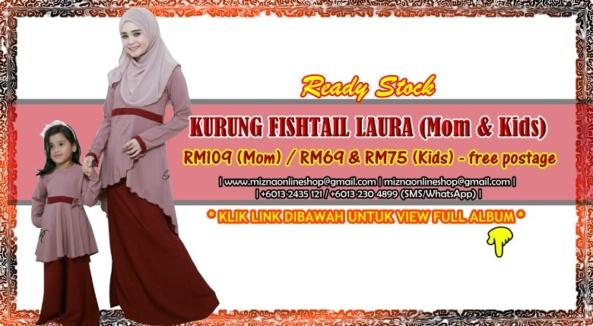 [READY STOCK] KURUNG FISHTAIL LAURA (Mom & Kids)