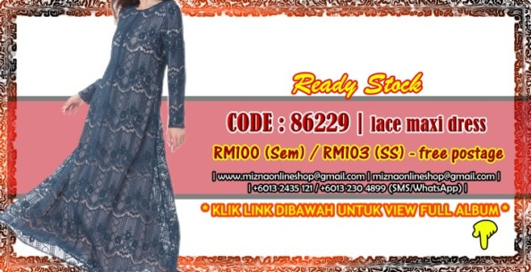 [READY STOCK] 86229 – LACE MAXI DRESS