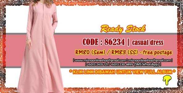 [READY STOCK] 86234 – CASUAL DRESS