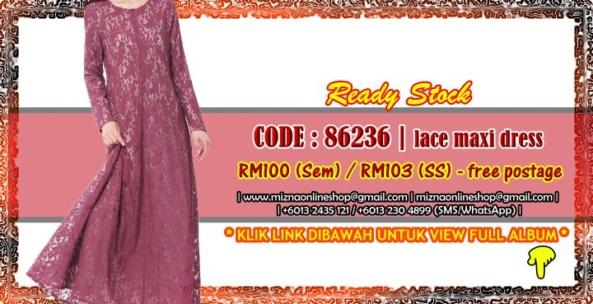 [READY STOCK] 86236 – LACE MAXI DRESS
