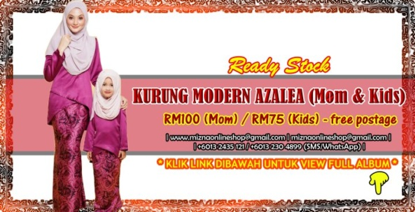 [READY STOCK] KURUNG MODERN AZALEA (Mom & Kids)