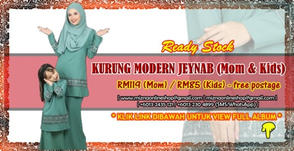 [READY STOCK] KURUNG MODERN JEYNAB (Mom & Kids)