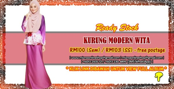 [READY STOCK] KURUNG MODERN WITA