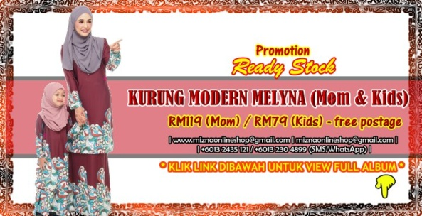 [READY STOCK] KURUNG MODERN MELYNA (Mom & Kids)