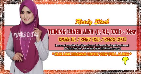 [RS-2] TUDUNG LAYER AINA PLAIN (XL, XXL) – New