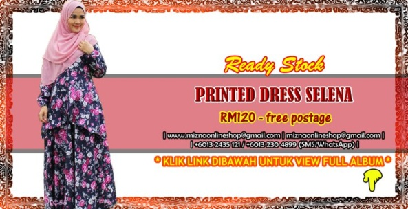 [READY STOCK] PRINTED DRESS SELENA
