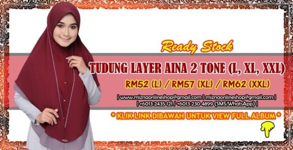 [RS-2] TUDUNG LAYER AINA 2 TONE (XXL)
