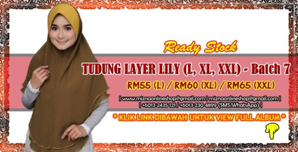 [RS-2] TUDUNG LAYER CHIFFON LILY (XL, XXL) – Batch 7