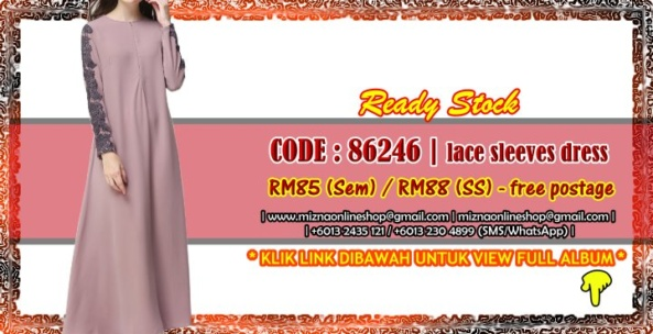 [READY STOCK] 86246 – LACE SLEEVES DRESS