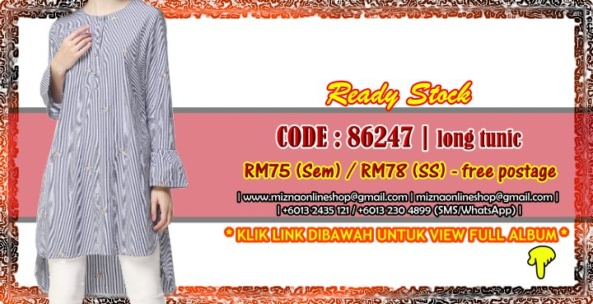 [READY STOCK] 86247 – LONG TUNIC