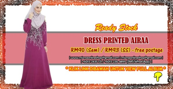 [READY STOCK] DRESS PRINTED AIRAA