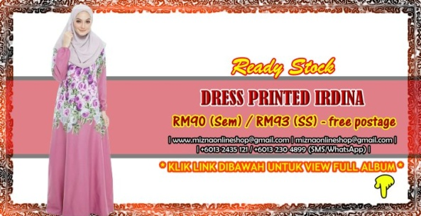 [READY STOCK] DRESS PRINTED IRDINA