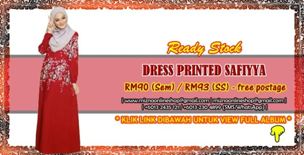 [READY STOCK] DRESS PRINTED SAFIYYA