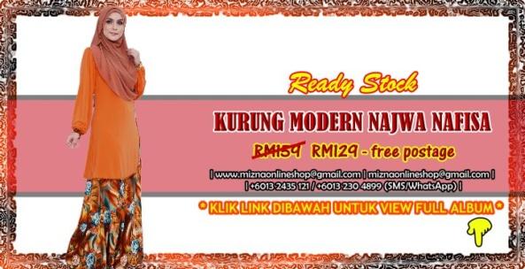 [READY STOCK] KURUNG MODERN NAJWA NAFISA