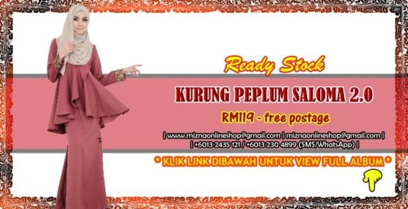 [READY STOCK] KURUNG PEPLUM SALOMA 2.0
