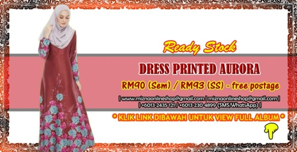[READY STOCK] DRESS PRINTED AURORA