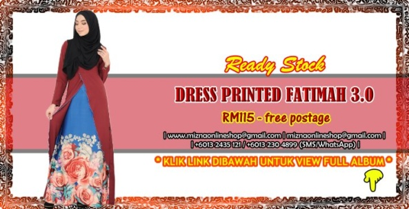 [READY STOCK] PRINTED DRESS FATIMAH 3.0