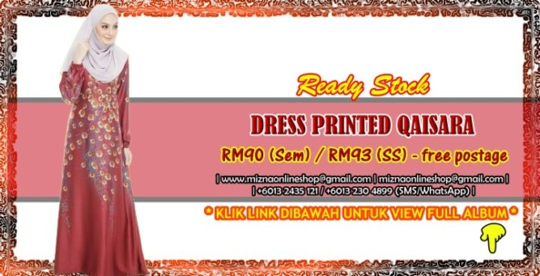 [READY STOCK] DRESS PRINTED QAISARA