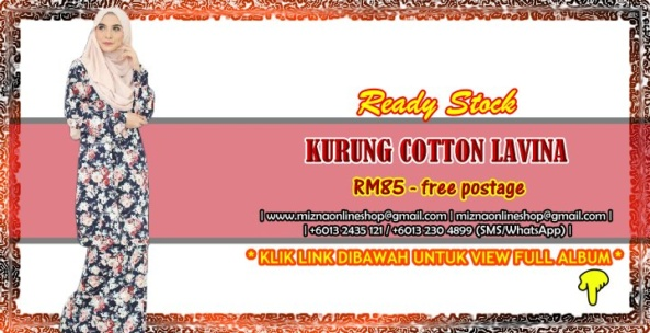 [READY STOCK] KURUNG COTTON LAVINA
