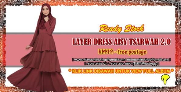 [READY STOCK] AISY TSARWAH LAYER DRESS 2.0