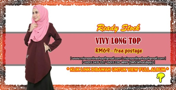 [READY STOCK] VIVY LONG TOP