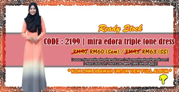 [SALE] 2199 – MIRA EDORA TRIPLE TONE DRESS