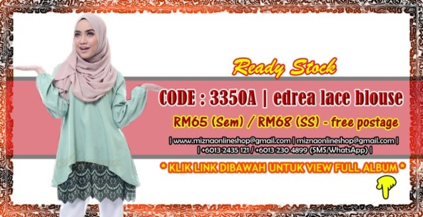 [READY STOCK] 3350A – EDREA LACE BLOUSE