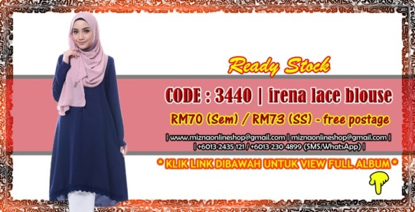 [READY STOCK] 3440 – IRENA LACE BLOUSE