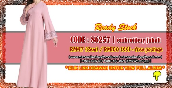[READY STOCK] 86257 – EMBROIDERY JUBAH