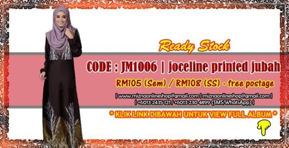 [READY STOCK] JM1006 – JOCELINE PRINTED JUBAH