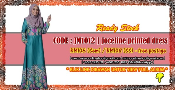 [READY STOCK] JM1012 – JOCELINE PRINTED JUBAH